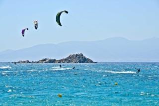 ydreos studios in naxos kitesurfing